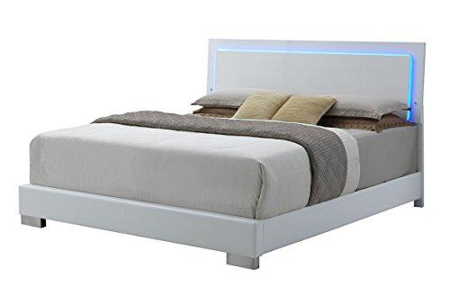 - Coaster Home Furnishings 203500KE-S4 Bedroom Furniture Set, Glossy White