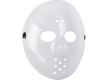 DISONIL Máscara Blanca Hockey 22X23 cm.