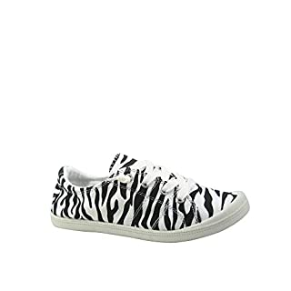 Forever Link Women's Classic Slip-On Comfort Fashion Sneaker (7.5, Zebra)