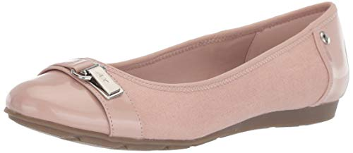Stretch Ballet Flat - Anne Klein Women's Able Ballet Flat, Rose Quartz, 9.5 M US