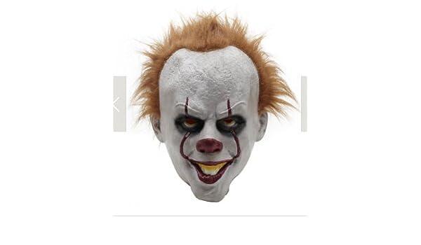 Kofun Payaso Mask Halloween Pennywise Traje Terror Cosplay Prop Niños Toy Trick: Amazon.es: Hogar