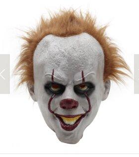 JERKKY Máscara de Payaso de Halloween Pennywise Disfraz de Cosplay ...