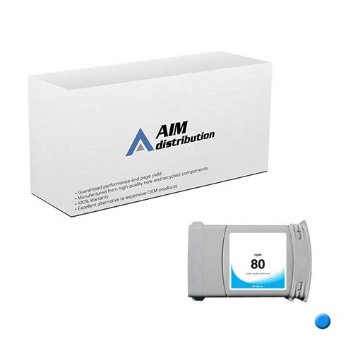 AIM Compatible Replacement for HP NO. 80 Cyan Inkjet (350ML-4400 Page Yield) (C4872A) - Generic