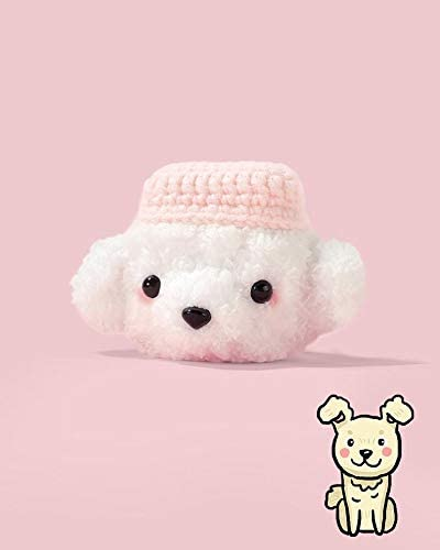 DHJ Airpods Case Dustproof Soft Silicone Airpods Protective Cover for Apple Airpods 1 /& 2 A Kawaii Pink Cap Puppy Airpods Case Cover