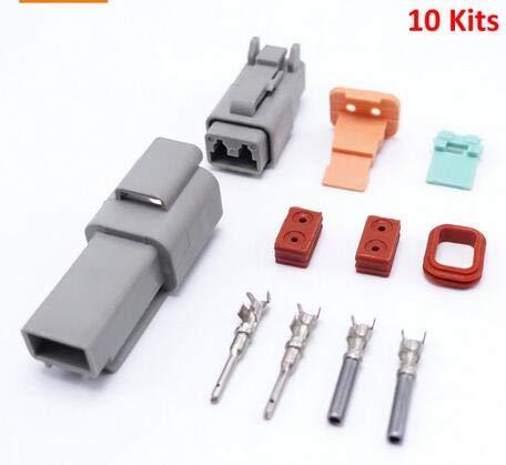 Davitu 10 sets DT06-3S DT04-3P wire waterproof complete male and female connector DT04-2P&DT06-2S - (Color: DT042P DT062S)