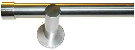 Barras de Cortina Conjunto Tapón Acero INOX. Largo 3