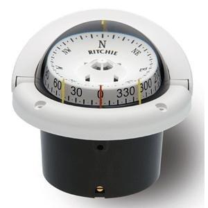 Ritchie HF-743W Helmsman Compass - Flush Mount - White (10535)