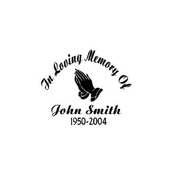 In memory of vinyl car decal white 5 by 5 inches