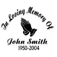 In Memory Of, Vinyl Car Decal, 'White', '5-by-5 inches'