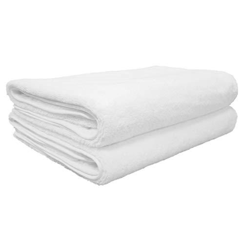 Polyte Quick Dry Lint Free Microfiber Bath Sheet, Set of 2 (Beige, 35×70)