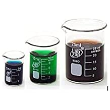 SEOH Micro Borosilicate Glass Graduated Beakers (5ml, 10ml and 25ml)