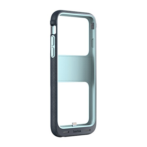 SanDisk iXpand 128GB Memory Case for iPhone 6/6s - Retail Packaging - Teal by SanDisk (Image #1)