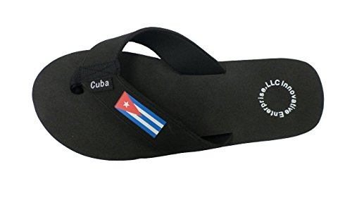 Innovative Enterprises LLC. Men & Womens Cuba Flip Flop Sandal Black fUGYXE6cS
