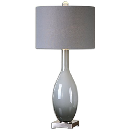 One Light Nickel Table Lamp -