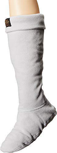 Joules Women's Weltonus Rain Boot Sock, Silver,Medium,US (Silver Boot Sock)