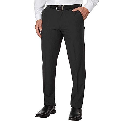 IZOD Mens Performance Stretch Straight Dress Pant (36W x 32L, Charcoal) (Izod Belts For Men)