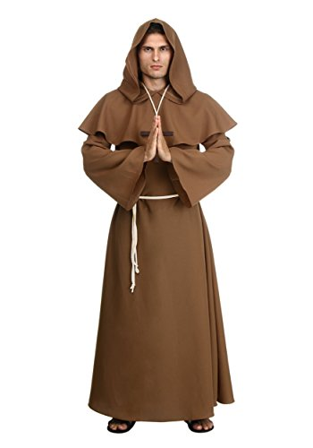 Hobbit Frodo Costume (Adult Brown Monk Robe X-Large)