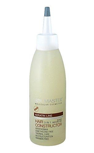 Spa Master Professionale Cheratina Hair Constructor Prodotti per la Cura dei Capelli 3-in-1- Keratin Line 150 ml Rosa Impex