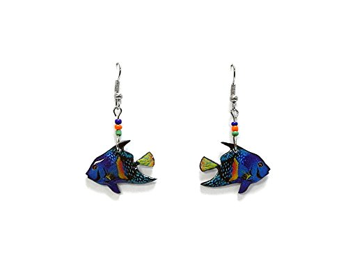 Tropical Fish Hook (Fish Earrings (Tropical/Turquoise))