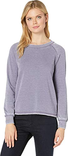 (Alternative Women's Burnout French Terry Lazy Day Pullover Lavender Grey)