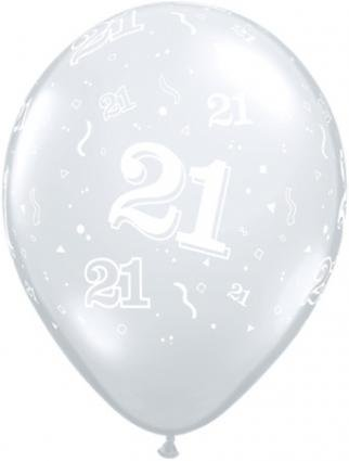 Clear 21st Birthday Latex Balloons Amazoncouk Toys Games