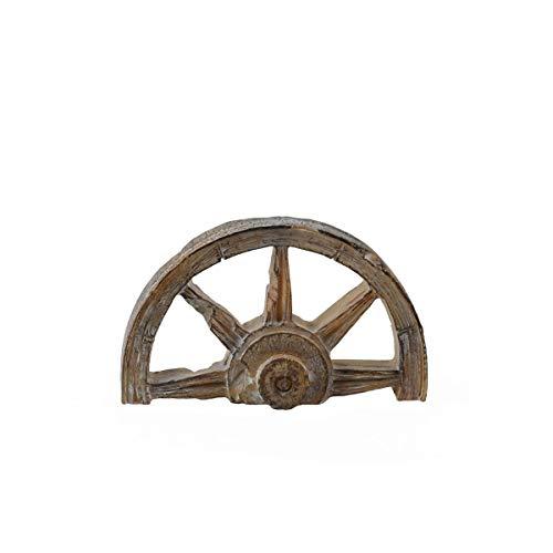- TG,LLC Miniature Rustic Half Wagon Wheel Fairy Garden Accessory Dollhouse Landscape Decor