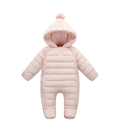 Toddler Hooded Girls Winter Warm Fairy Baby Jumpsuit Thick Pink Boys Snowsuit Outwear vwqn6Z5fx
