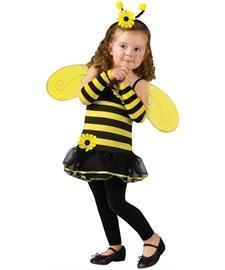 Fun World Toddler Girls' Honey Bee Costume, Multi, (Honey Bee Costume For Kids)