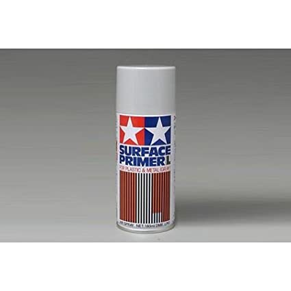 Tamiya TAM87042 87042 Surface Primer L Gray, 180ml Spray Can, Light Gray