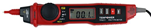 TekPower TP8211 Pen Type Digital Multimeter with Non Contact Voltage Detector Tester ()