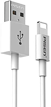 IOA Lightning Cable Lightning to USB Cable Nylon Fiber Fast Charging Charger Line Stable Compatible with Ios11//10//9//8,0.2m