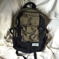 ll-bean-backpack-khaki-olive-and-black-euc