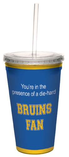 Tree-Free Greetings cc34590 Bruins College Football Fan Artful Traveler Double-Walled Cool Cup with Reusable Straw, 16-Ounce (Ucla Bruins Glass Art)