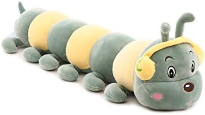 抱き枕 抱き 80 枕 抱きまくら 洗える 癒し抱き枕 可愛い ぬいぐるみ 気持ちいい スーパーソフト ロング 毛虫 妊婦 母の日 みどり ギフト プレゼント