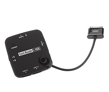 Novago - Kit de conexión y lector de tarjetas de memoria (SD (HC), Micro SD, Mini SD, MS Duo, MMC, M2) para Samsung Galaxy Tab y Galaxy Tab 2 de ...