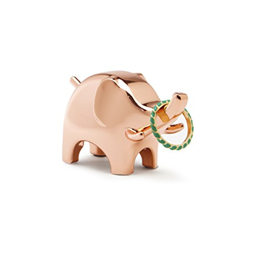 Copper Elephant Ring Holder with Padded Base