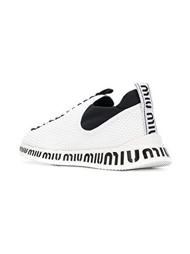Sneakers Woman Miu 5s901bf0103kfmf0009 poliammide bianca in ERw6wgq