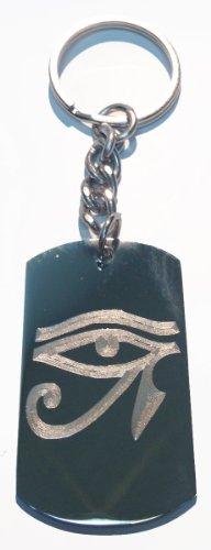 Eye of Ra Pyramid Sun God - Metal Ring Key Chain Keychain -