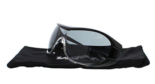 Encon Wraparound Veratti V6 Safety Glasses, Gray Lens, Black Frame (Pack of 1)