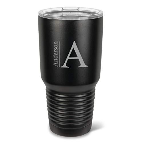 Húsavík 30 oz. Black Matte Double Wall Insulated Tumbler - Personalized Tumbler - Monogrammed Tumbler