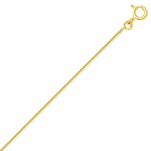 So Chic Bijoux © Chaîne Collier Longueur 45 cm Maille Gourmette Diamantée 1,05 mm Or Jaune 750/000 (18 carats)
