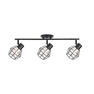 NOMA Track Lighting | Adjustable Ceiling Light Fixture | Perfect for Kitchen, Hallway, Dining Room, Bedroom and Bathroom | Oil Rubbed Bronze, 3-Light