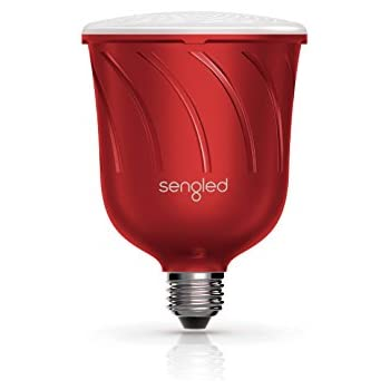 Sengled Pulse Dimmable LED Light Bulb with a Built-In Wireless Bluetooth JBL Speaker, Satellite Bulb, Candy Apple