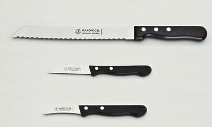 Compra Set de cuchillos 3-unidades 1 x cuchillo de pan + 2 x ...