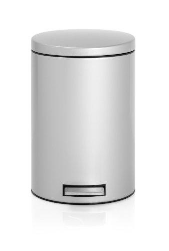 Treteimer 12 L Silent mit Kunststoffeinsatz / Metallic Grey