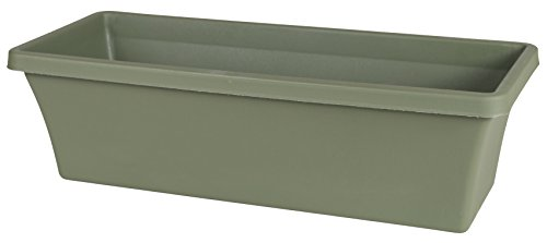 Plastic Window Box - Bloem 52424 Fiskars 24 Inch TerrabBox Planter, Thyme Green