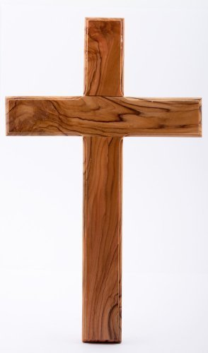 Wooden Cross. Plain wood cross. Holy Land wood cross.Olive Wood Cross. by Wood Cross by Devotional Gifts UK