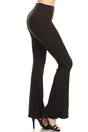 Leggings Depot JGAX128-BLACK-1XL Solid Jogger Track Pants w/Pockets, 1-XL Plus