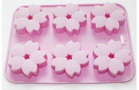 Blossom Mold - Nice Cherry Flower Mini Bundt Muffin Chocolate Bakeware Soap Mould Silicone Mold - Vase Tree Diamond Votive Nurse Bear Circle Pancakes Anchor Lollipop Mirror Stick Candy Game Choco