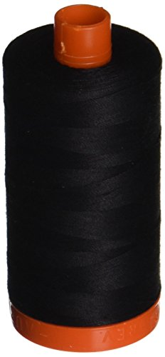 Aurifil A1050-2692 Mako Cotton Thread Solid 50WT 1422Yds black -